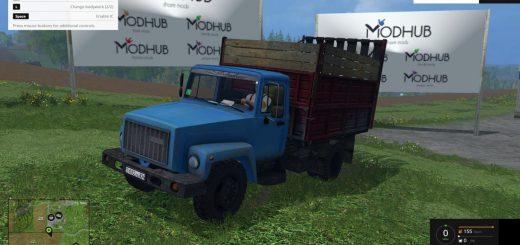 Русская техника для Мод грузовик ГАЗ—САЗ 35071  V1.1 для Farming Simulator 2015