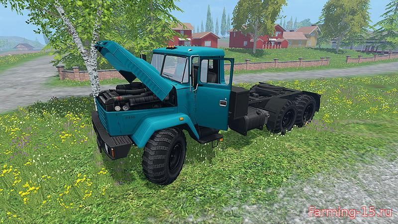 Русская техника для Мод грузовик КрАЗ 6446 V1 для Farming Simulator 2015