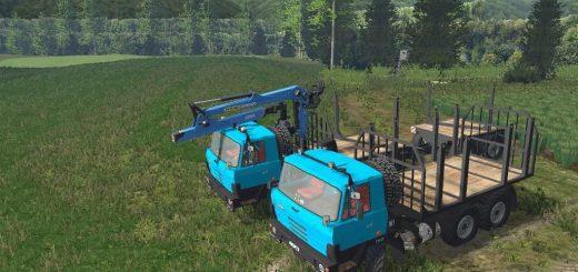 Грузовики для Мод два грузовика для перевозки бревен для Farming Simulator 2015
