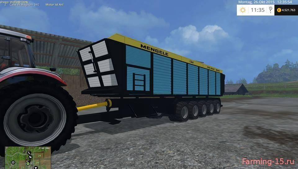 Прицепы для Мод прицеп Mengele Silo Bull для Farming Simulator 2015