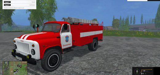 Русская техника для Мод грузовик ГАЗ 53 Пожарка для Farming Simulator 2015