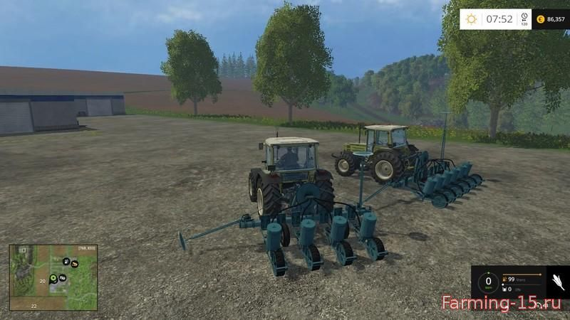 С/Х инвентарь для Мод две сеялки для посева кукурузы для Farming Simulator 2015