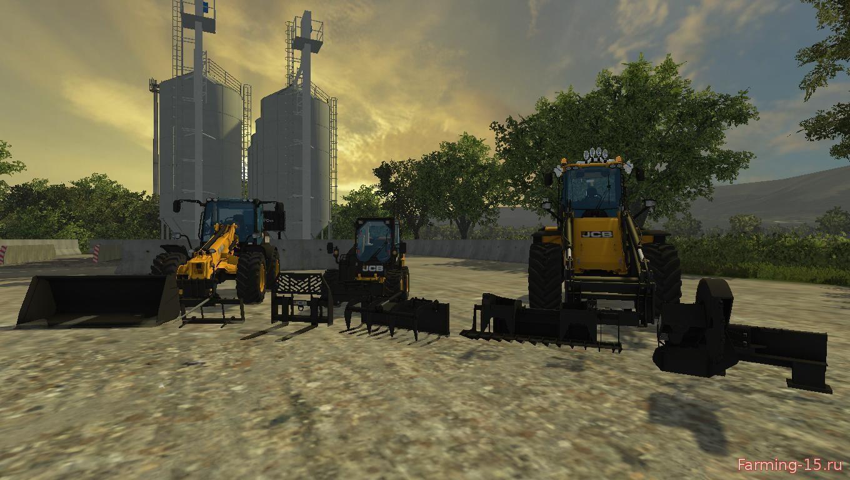 Погрузчики для Мод-пак погрузчиков JCB V1 для Farming Simulator 2015