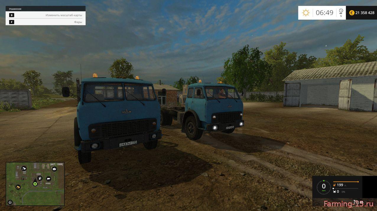 Русская техника для Мод-пак лесовоз МАЗ-504 и прицеп для Farming Simulator 2015