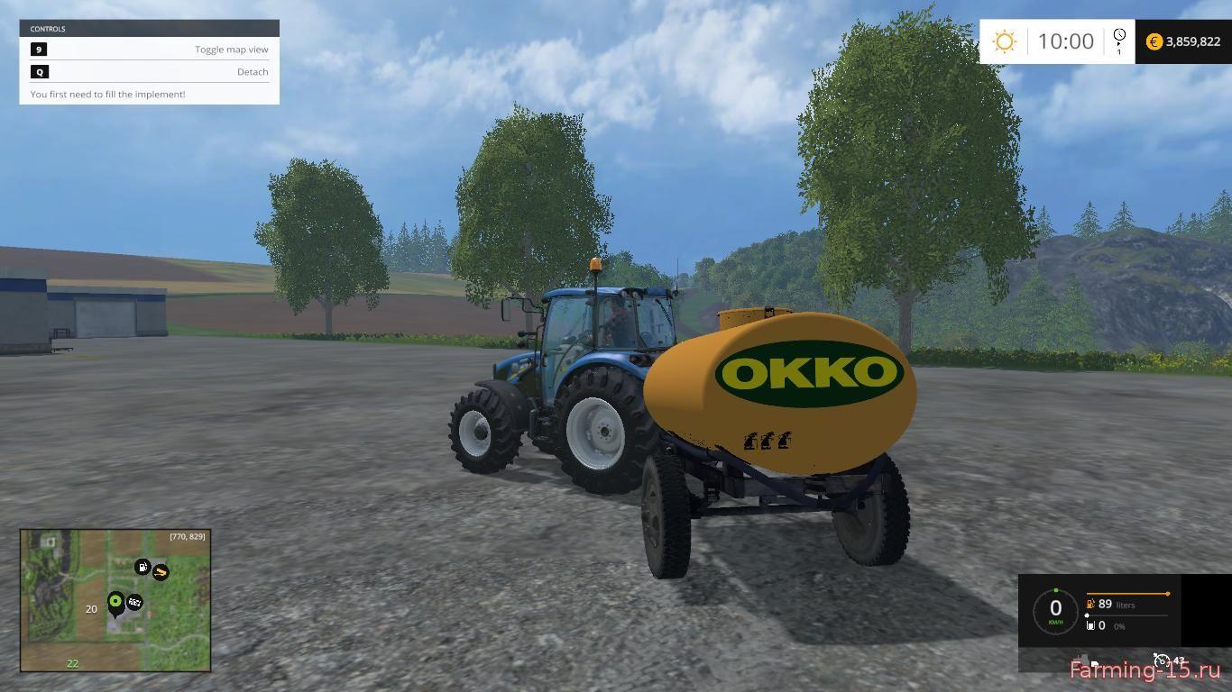 Цистерны для Мод цистерна Окко для Farming Simulator 2015