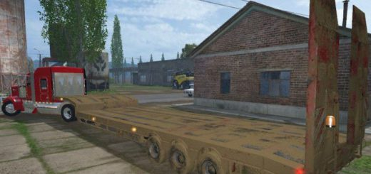 Прицепы для Мод прицеп-платформа Overweight для Farming Simulator 2015
