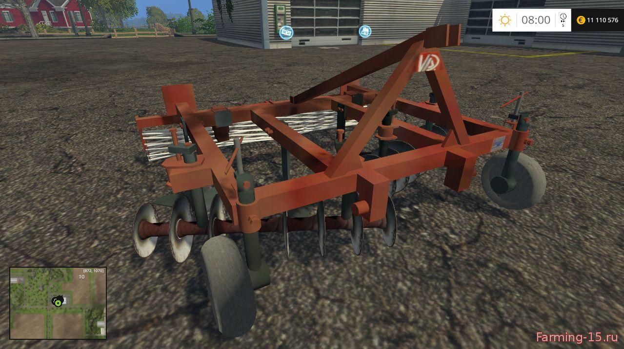 С/Х инвентарь для Мод культиватор навесной АПК-3 для Farming Simulator 2015