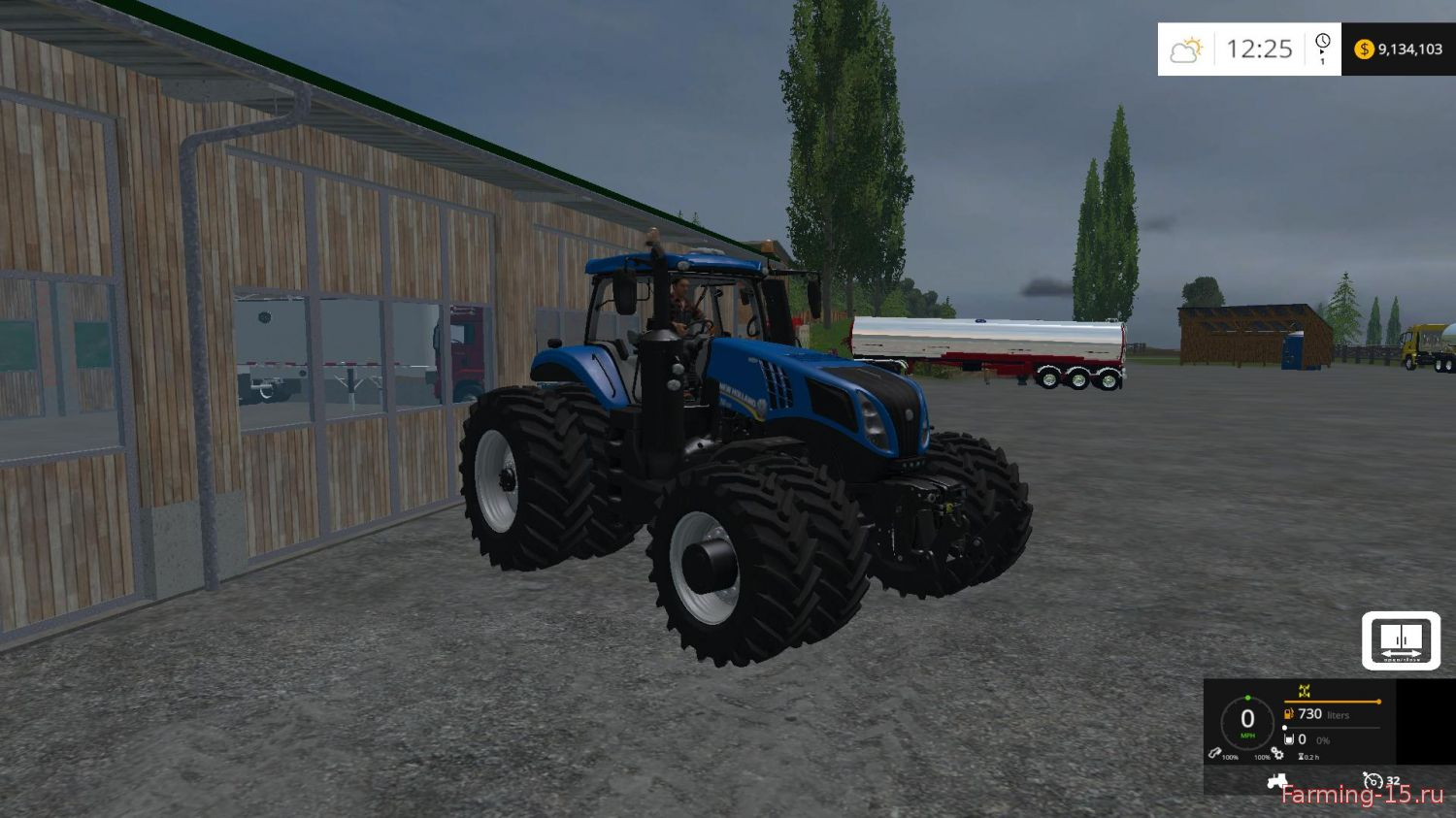 Тракторы для Мод трактор New Holland T8 435 для Farming Simulator 2015
