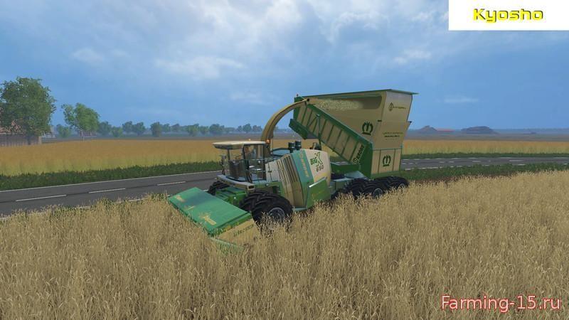Косилки для Мод косилка Krone Big X 650 Cargo для Farming Simulator 2015