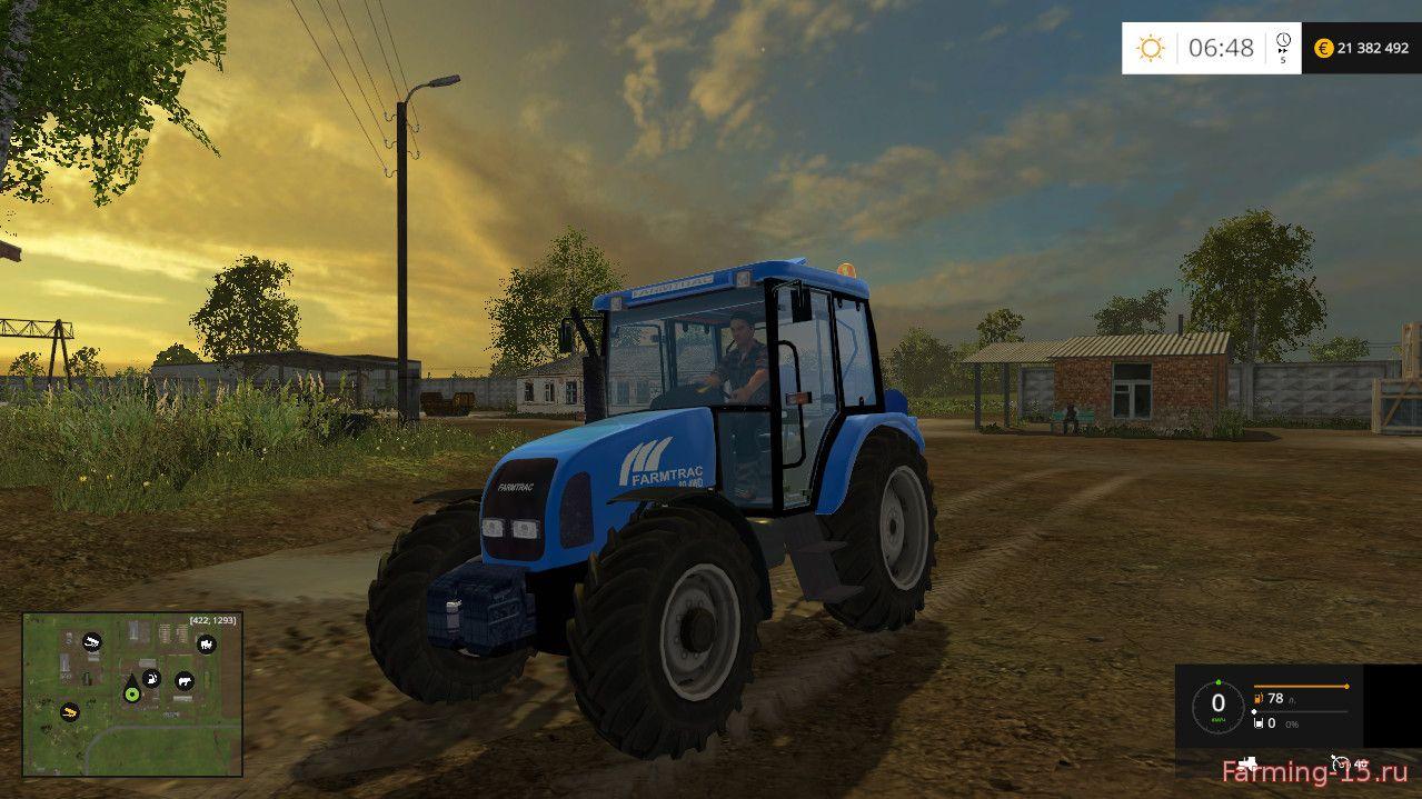 Тракторы для Мод трактор Farmtrac 80 для Farming Simulator 2015
