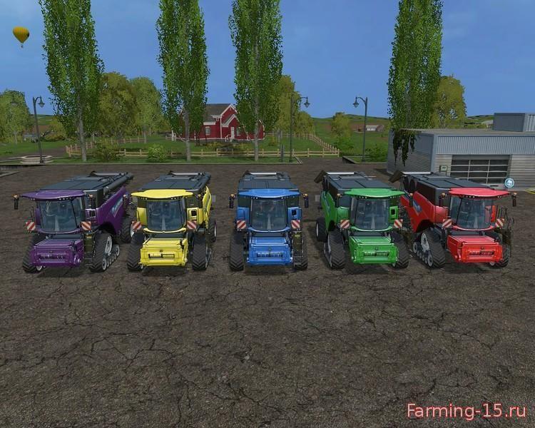 Комбайны для Мод комбайн New Holland CR1090 для Farming Simulator 2015