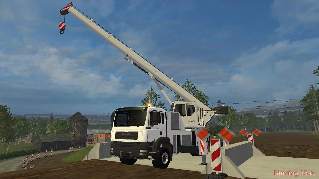Погрузчики для Мод кран MAN для Farming Simulator 2015