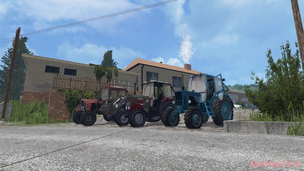 Русская техника для Мод-пак тракторов МТЗ V2.0 для Farming Simulator 2015