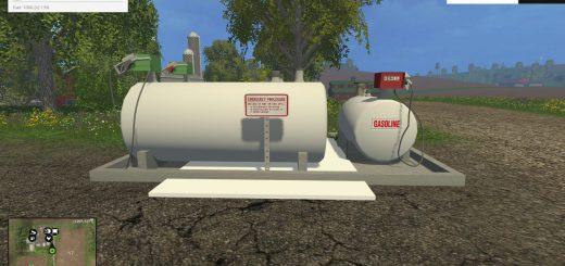 Объекты для карт для Мод устанавливаемая заправочная станция для Farming Simulator 2015