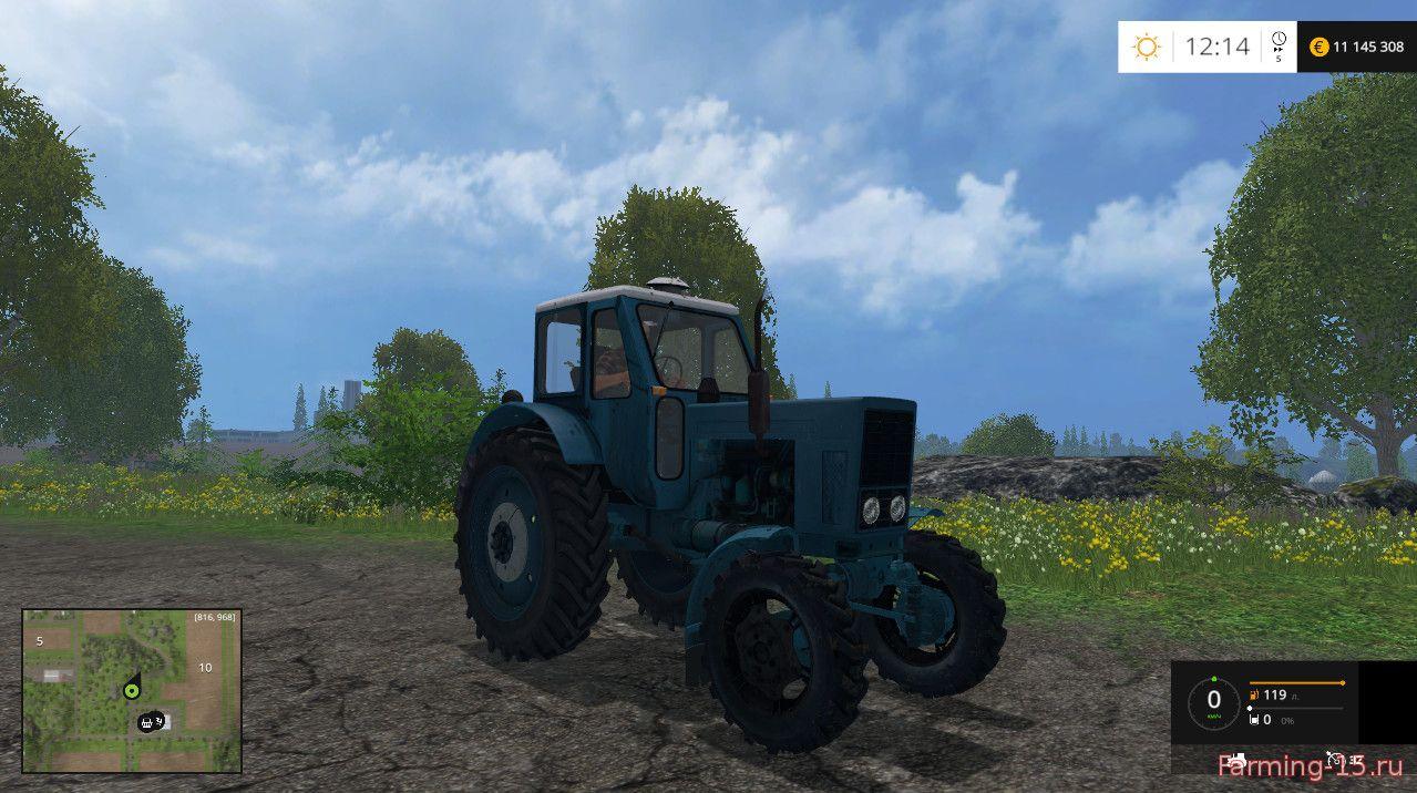 Русская техника для Мод трактор МТЗ-52 Fix для Farming Simulator 2015