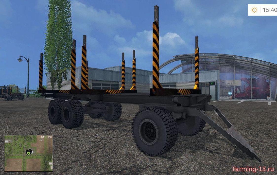 Русская техника для Мод прицеп-лесовоз ПТС-12 для Farming Simulator 2015