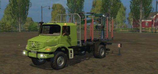 Грузовики для Мод грузовик Mercedes Zetros Forest v 2.0 Лесовоз  для Farming Simulator 2015