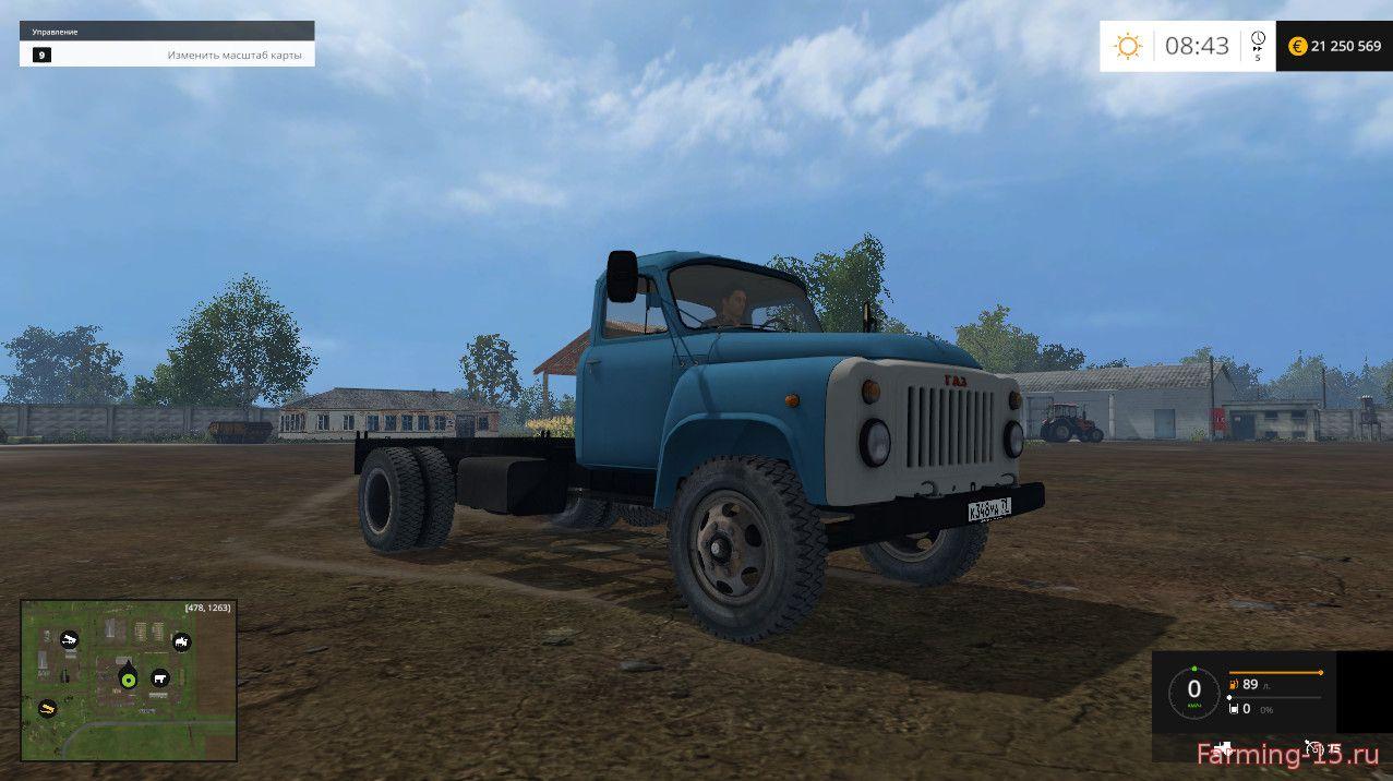 Русская техника для Мод тягач ГАЗ-53а для Farming Simulator 2015