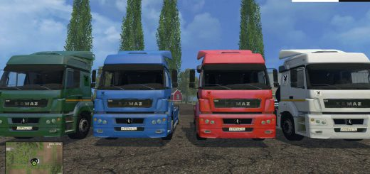 Русская техника для Мод грузовик КамАЗ 6490 v1.0 для Farming Simulator 2015