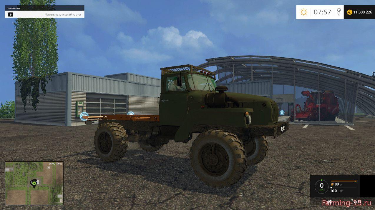 Русская техника для Мод тягач Урал 43206 v1.0 для Farming Simulator 2015