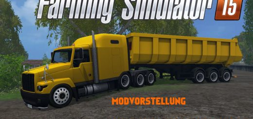 Русская техника для Мод грузовик ГАЗ Титан и полуприцеп для Farming Simulator 2015