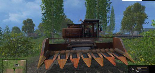 Русская техника для Мод комбайн ДОН-1500A для Farming Simulator 2015