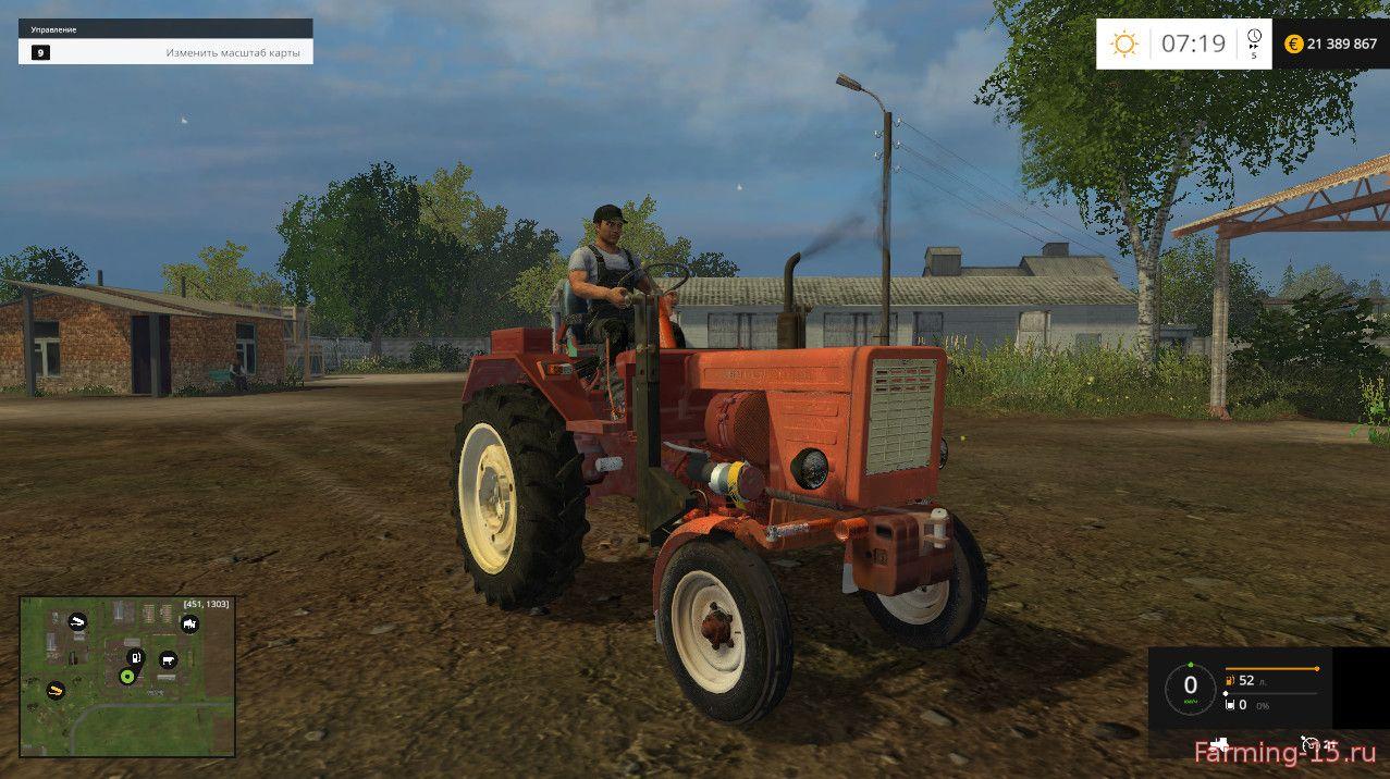 Русская техника для Мод трактор T-25 + FL для Farming Simulator 2015
