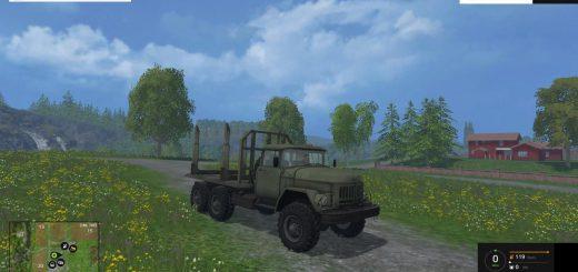 Русская техника для Мод грузовик ЗИЛ-131 Лесовоз для Farming Simulator 2015
