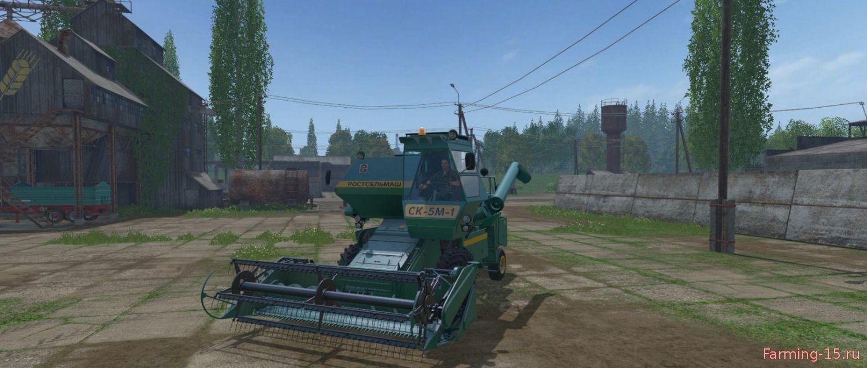 Русская техника для Мод комбайн Ростсельмаш СК-5М-1 «Нива» для Farming Simulator 2015