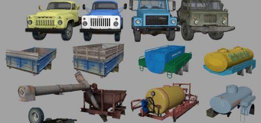 Русская техника для Мод-пак грузовиков Газ v4.0 для Farming Simulator 2015