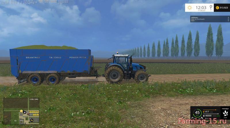 Прицепы для Мод прицеп Brantner для Farming Simulator 2015