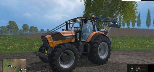 Погрузчики для Мод трактор с челюстным погрузчиком Forstdeutz для Farming Simulator 2015