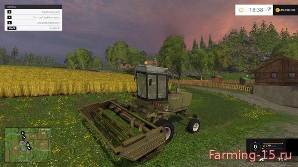 Косилки для Мод комбайн-косилка Fortschritt 302 для Farming Simulator 2015