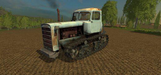Русская техника для Мод гусеничный трактор ДТ-75 Казахстан для Farming Simulator 2015
