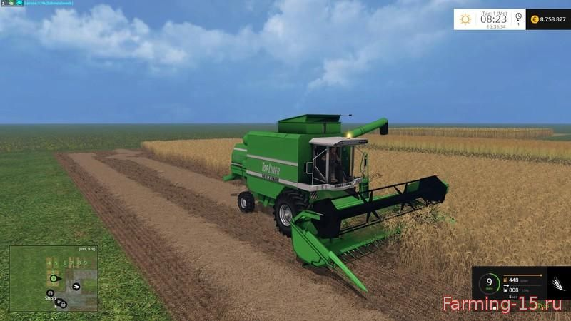 Комбайны для Мод комбайн Deutz Fahr Topliner 4080 HTS v1.0 для Farming Simulator 2015