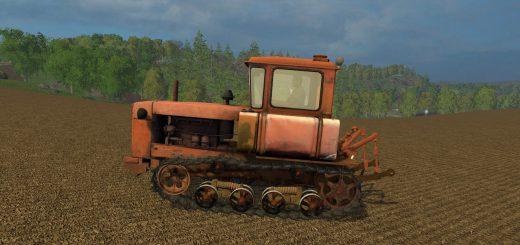 Русская техника для Мод гусеничный трактор ДТ-75 для Farming Simulator 2015