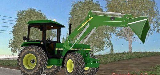 Погрузчики для Мод трактор с погрузчиком John Deere 2850A v1.0 для Farming Simulator 2015
