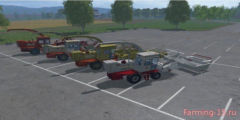 Русская техника для Мод-пак комбайнов КСК-100 для Farming Simulator 2015