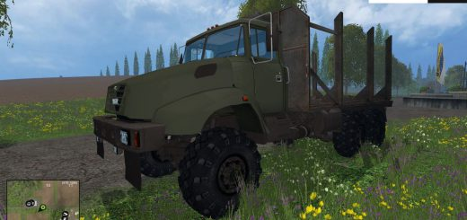 Русская техника для Мод грузовик-лесовоз КРАЗ-В18.1 для Farming Simulator 2015