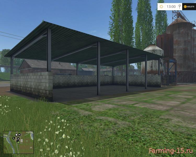 Объекты для карт для Мод устанавливаемый навес для Farming Simulator 2015