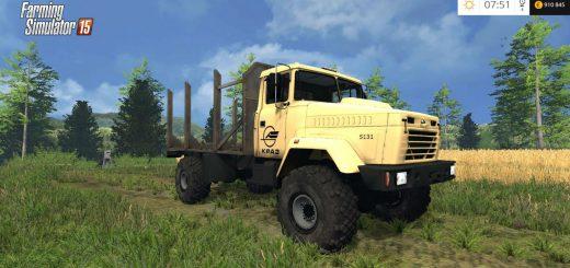 Русская техника для Мод грузовик КрАЗ 5131 Лесной для Farming Simulator 2015