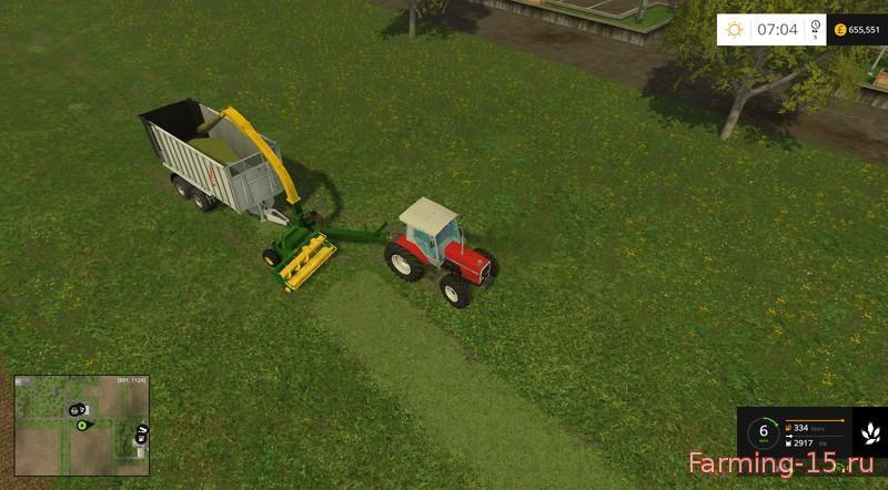 С/Х инвентарь для Мод прицепной погрузчик для травы для Farming Simulator 2015