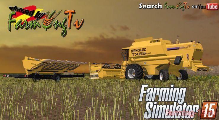 Комбайны для Мод комбайн New Holland TX 68 PLUS для Farming Simulator 2015