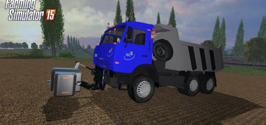 Русская техника для Мод грузовик КамАЗ 65115 MUP v2 для Farming Simulator 2015