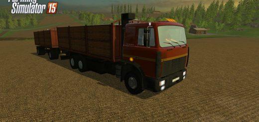 Русская техника для Мод грузовик МАЗ 6303 и прицеп для Farming Simulator 2015