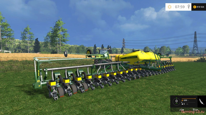 С/Х инвентарь для Мод сеялка John Deere DB60 V1 для Farming Simulator 2015
