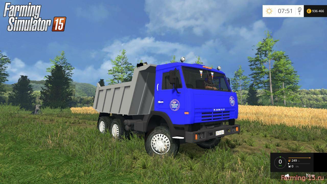 Русская техника для Мод грузовик КамАЗ 65115 V1.0 для Farming Simulator 2015