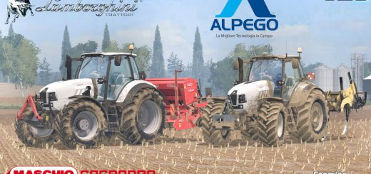 Тракторы для Мод трактор Lamborghini Mach 250VRT v3.1 для Farming Simulator 2015