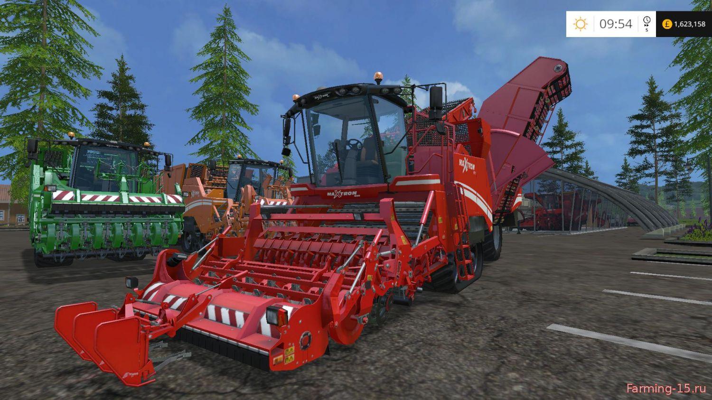Комбайны для Мод комбайны Grimme Dyeable Harvesters V2.0 для Farming Simulator 2015