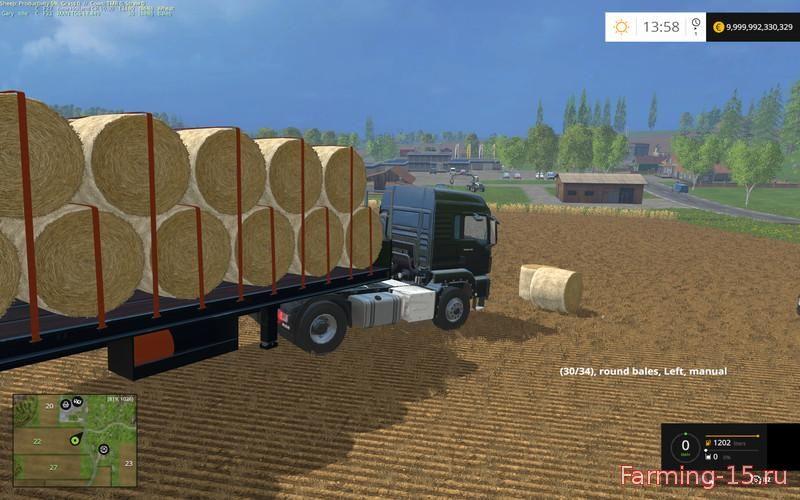 Прицепы для Мод прицеп для тюков для Farming Simulator 2015